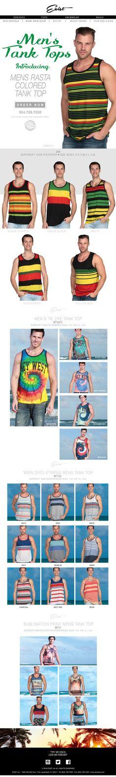 The New Men's Tank Tops! Hottest Deals! Best Prices! #menstanktops #existUSA #TANKTOPS #Tshirts #menswear