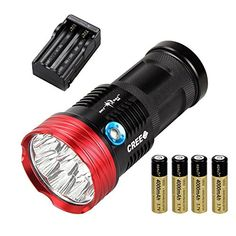 Easyboy Rechargeable 17000lm Skyray 10x Cree XML T6 LED Flashlight Torch Hunting Lampbatterycharger >>> You can get more details by clicking on the image.