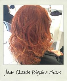 coiffure brushing curl bloucles cuivr longhair hair hairstyle - Coloriste Marseille