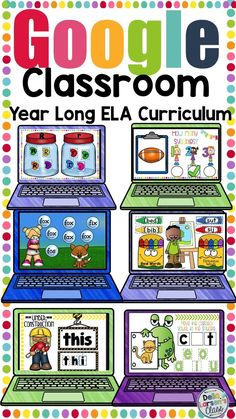 This digital resource is a bundle of everything you need to teach literacy to beginning readers in your kindergarten classroom. This resource includes activities to teach letter knowledge, phonological awareness, phoneme segmentation, rhymes, counting sy Sight Words, Cvce Words, Nonsense Words, Google Classroom, Classroom Ideas, Future Classroom, School Classroom, Guided Reading Groups, Reading Lessons