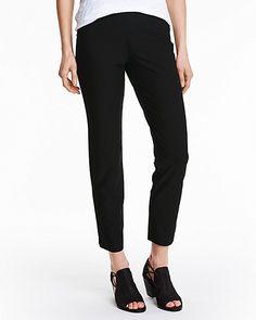 Eileen Fisher Stretch-Crêpe Slim Ankle Pants