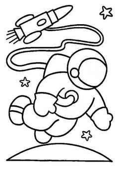 space astronaut coloring pages Make your world more colorful with free printable coloring pages from italks. Our free coloring pages for adults and kids. Space Crafts For Kids, Space Preschool, Space Activities, Art For Kids, Space Coloring Pages, Coloring Sheets, Coloring Books, Space Party, Space Theme