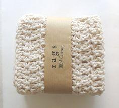 cotton crochet dish cloth