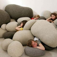 Soft Rock Cushions.  I'm not usually into Soft Rock but these are sweet.