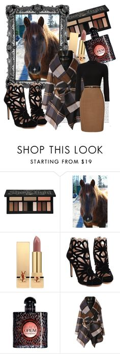 """""""tan x"""" by caitlinleanne48 ❤ liked on Polyvore featuring Kat Von D, Oris, Yves Saint Laurent, Chicwish and Phase Eight"""