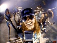"Guns N' Roses - video for ""Garden of Eden"". Loved how they scrolled lyrics…"