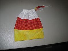 Candy Corn Trick or Treat Bag! SO CUTE!