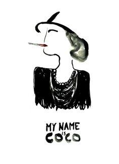 "Portraits by Julia Perrin ""My name is..."" : Link of the book : http://www.erichennebert.com/julia-perrin/… #cocochanel #juliaperrin #illustrator #illustration #portrait #erichennebertagency"