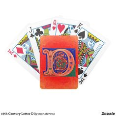 17th Century Letter D Bicycle Playing Cards #Alphabet #Letter #English #Historic #Cards