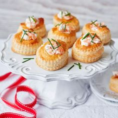 The woody-smokiness of salmon and the delicate fragrance of chives are mixed with luxurious soured cream in this elegant festive canapé. | Tesco