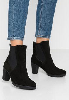 Scholl ADHARE - Bottines - black - ZALANDO.FR Zalando Shoes, Black Noir, Booty, Ankle, Fashion, Ankle Boots, Heels, Leather, Men Styles