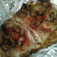 Filete de pescado empapelado