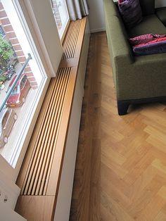 DIY - Un canapé en palettes Modern Radiator Cover, Baseboard Heater Covers, Magazine Deco, Plywood Shelves, Minimalist House Design, Home Office Design, Interior Design Tips, Dream Decor, Home Renovation