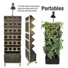 This PRO Kitchen Herb Garden Waters The Plants While Still In Pots With  Overhead Emitters.
