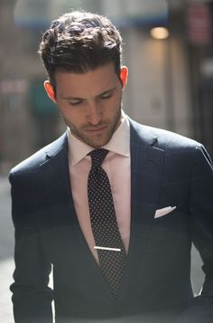 navy and pink. very classy. dapper.