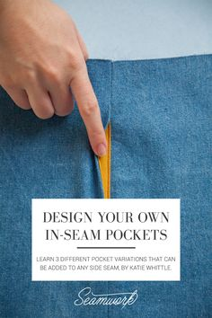 Sewing Techniques Couture Design Your Own In-seam Pockets Sewing Hacks, Sewing Tutorials, Sewing Crafts, Sewing Tips, Sewing Ideas, Techniques Couture, Sewing Techniques, Tailoring Techniques, Magazine Couture