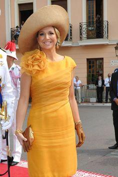 Máxima de Holanda fue una de las princesas más elegantes en la boda del príncipe Alberto de Mónaco y Charlene Wittstock.
