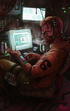 retro cyberpunk, yanis cardin on ArtStation at https://www.artstation.com/artwork/wJaP5