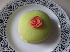 Swedish princess cake. I know green cake doesn't look that appealing, but once you've had a bite, you will be in love. It is really one of the most incredible and light cakes, ever.