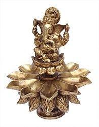 Home Sparkle Brass Ganesha Diya