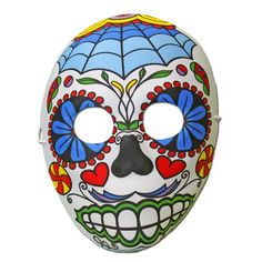 Our range of fancy dress masks will make you the centre of attention at your next fancy dress party. Fancy Dress Masks, Day Of The Dead Mask, Half Mask, Masquerade, Web Design, Pray, Spiritual, Shell, Mexico