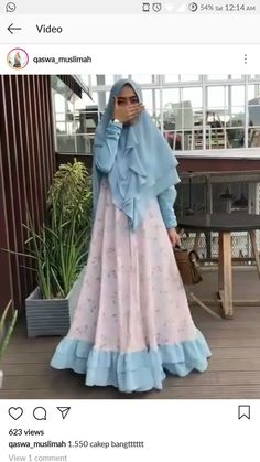 Hijab Gown, Hijab Style Dress, Hijab Outfit, Kebaya Muslim, Muslim Hijab, Gamis Simple, Moslem Fashion, Abaya Fashion, Mode Hijab