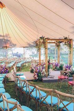 30 Wedding Tent Ideas For A Stunning Wedding ❤ See more: http://www.weddingforward.com/wedding-tent/ #wedding