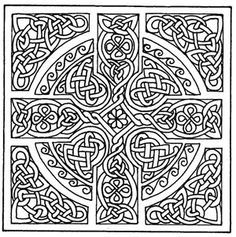Celtic Mandala Coloring Pages Free Printable Cross Patterns Mandalas Design