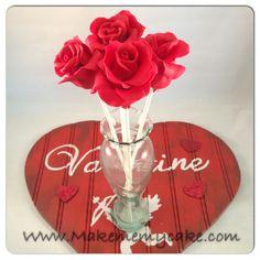 ROSE CAKE POPS VALENTINES DAY!!!