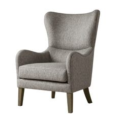 Stylish and comfortable, the Arianna Swoop Wing Chair from Madison Park brings an eye-catching, dynamic design to your home. Instantly becoming a centerpiece of any room, this cozy chair features a polyester cover. Living Room Modern, Living Room Chairs, Living Room Furniture, Dining Chairs, Furniture Chairs, Lounge Chairs, Dining Room, Modern Furniture, Traditional Furniture