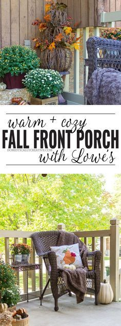 Cozy up to Fall and create a warm, inviting, and stylish Fall front porch that will welcome your guests and make them feel right at home!
