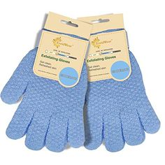 EvridWear Exfoliating Dual Texture Bath Gloves for Shower, Spa, Massage and Body Scrubs, Dead Skin Cell Remover, Gloves with hanging loop Pair Heavy Glove) Exfoliating Gloves, Dead Skin, Smooth Skin, Shower Gel, Body Wash, Healthy Skin, Your Skin, How To Remove, Spa Massage