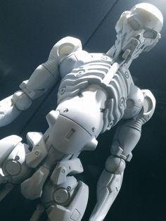 Promotion Body Designed by Yoji. Robot Leg, Arte Cyberpunk, Robots Characters, Robot Concept Art, Mecha Anime, Robot Design, Ex Machina, Conceptual Design, 3d Prints