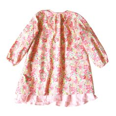#lulaland #fw14 #lupedress Roomy cut A-line dress, designed for comfort and style! With two front pockets, gathered sleeves and a double layer detail that adds volume and fun to the look. In a soft, woven cotton fabric topped with a girlie floral print in hues of pink. Key hole button fastening at back. 100% cotton