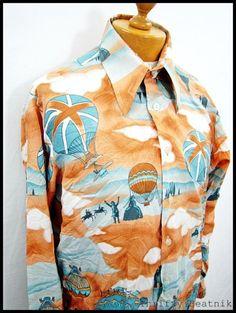 Vintage 1970s 70s Disco Dream Cloud Epic-Cool Shirt Large | eBay