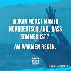 Woran merkt man in Norddeutschland, dass Sommer ist? Am warmen Regen.