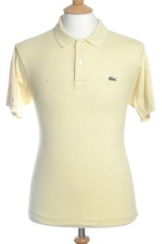 Vintage Lacoste Yellow Polo Shirt M from Brick Vintage