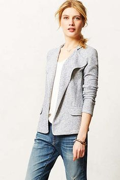 Anthropologie - Striped Terry Jacket