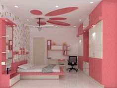 Wardrobe Design Bedroom, Bedroom Cupboard Designs, Luxury Bedroom Design, Kids Bedroom Designs, Bedroom Bed Design, Home Interior Design, Interior Designing, House Ceiling Design, Ceiling Design Living Room