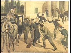 Η δολοφονία του Δηλιγιάννη.  Δολοφονήθηκε στις 31 Μαΐου 1905 στις σκάλες της βουλής από τον Αντώνιο Γερακάρη , που είχε χάσει τη δουλειά του επειδή ως πρωθυπουργός αποφάσισε το κλείσιμο των χαρτοπαικτικών λεσχών .