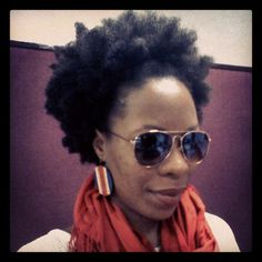 She's too cool for school :). (Natural hair, African-American women hairstyles, afro) Photo by acoustique_soul
