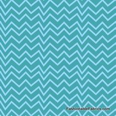 Fabric... Flannel Forest Friends Chevron on blue by Northcott Fabrics