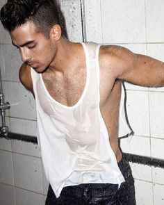 All the Proof That Joe Jonas is the Hottest Jonas Brother - Cocktailsandcocktalk Joe Jonas, Guess Campaigns, Jonas Brothers, Kardashian, Sexy Men, Hot Guys, Tank Man, Mens Tops, Hunks Men