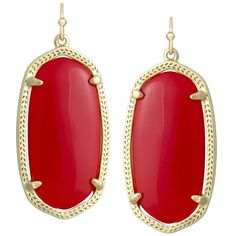 Elle Earrings in Bright Red - Kendra Scott Jewelry ($52) ❤ liked on Polyvore featuring jewelry, earrings, kendra scott, red jewelry, kendra scott earrings, kendra scott jewelry and bright jewelry