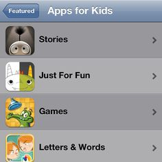 Categorical Apps for Kids in the App Store
