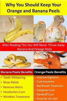 Benefits of Orange and Banana Peels: Why You Should Keep Your Orange and Banana Peels, After Reading This You Will Never Throw Away Banana and Orange Peels, Orange Peel Uses, Banana Peels Uses, Teeth Whitening, Banana peels are an excellent natural remedy for teeth whitening. Just rub your teeth with the inside of a banana peel every day for about 2 weeks. Read More…
