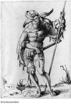 """""""Reisläufer von vorn gesehen"""" (Swiss mercenary fron the front), Urs Graff. 1513"""