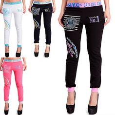 Neu bei 24brands - Damen Sporthose Skinny Slim fit Jogginghose Freizeithose Fitnesshose Laufhose, 4 versch. Farben für nur € 9,95
