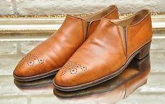 Vintage Bruno Magli Tan Leather Wingtip Oxford Loafers Size 8M Men 39;s Dress Shoes #brunomagli #vintagefashion #vintagemensshoes #mensshoes #italianshoes #wingtip #metrosexual #stylishmen #menstrends #mensfashion