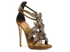 Possibly even a bit ornate for ME but absolutely gorgeous! Giuseppe Zanotti Leather Flower Sandal